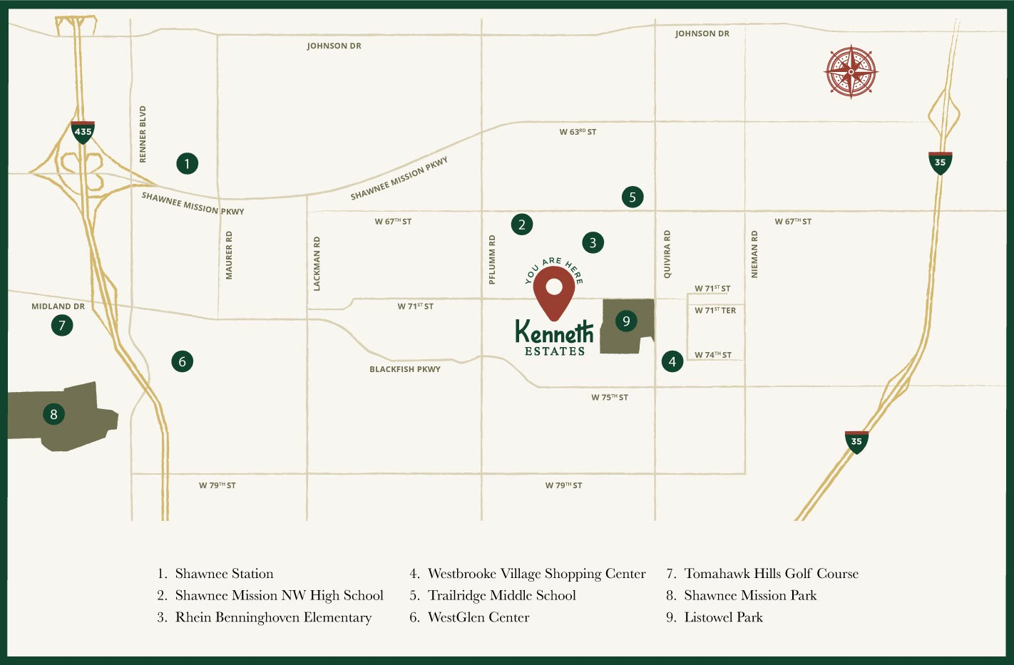 Map of Kenneth Estates